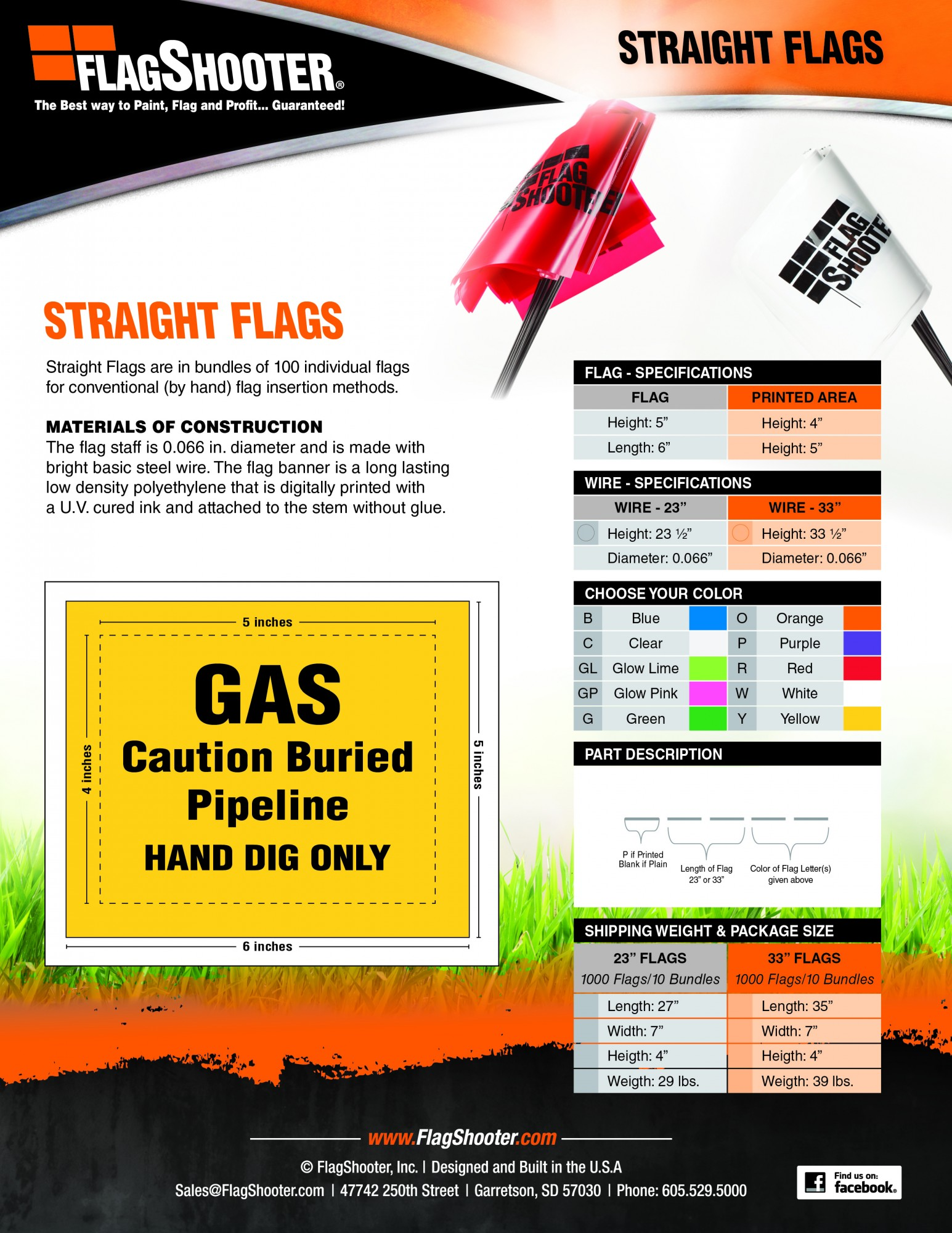 Straight Marking Flags from FlagShooter